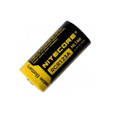 Аккумуляторная батарейка Li-Ion Nitecore NL166 CR123A 3.7V (650mAh), защищенный (04932)