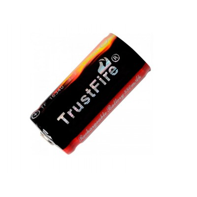 Аккумуляторная батарейка Li-Ion TrustFire 3.7V  CR123A/16340 (880mAh) (04776)
