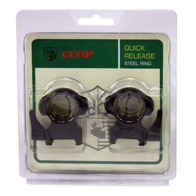 Кольца быстросъемные CCOP SR-1002WH 25,4мм на Weaver (сталь) (02218)