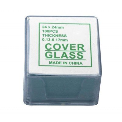 Покровные стекла Sigeta 24 x 24 мм (100 шт) (03520)