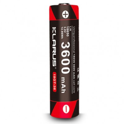 Акумуляторна батарея LiR 18650 Klarus 18GT-36 3600mAh 3.6V (18GT-36) (05848)