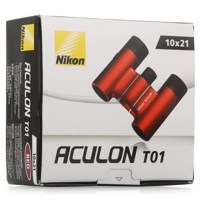 Бінокль Nikon Aculon T01 10x21 червоний (03489)