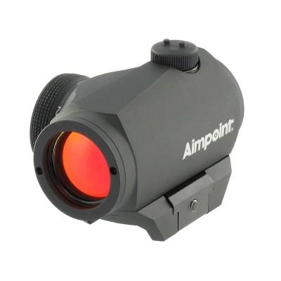 Коллиматорный прицел Aimpoint Micro H-1 с точкой 2 МОА  на Weaver (03657)