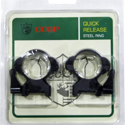 Кольца быстросъемные CCOP SR-3002WH 30мм на Weaver (сталь) (05027)