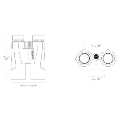 Бінокль Hawke Vantage WP 10x42 Gray (34 223) (04286)