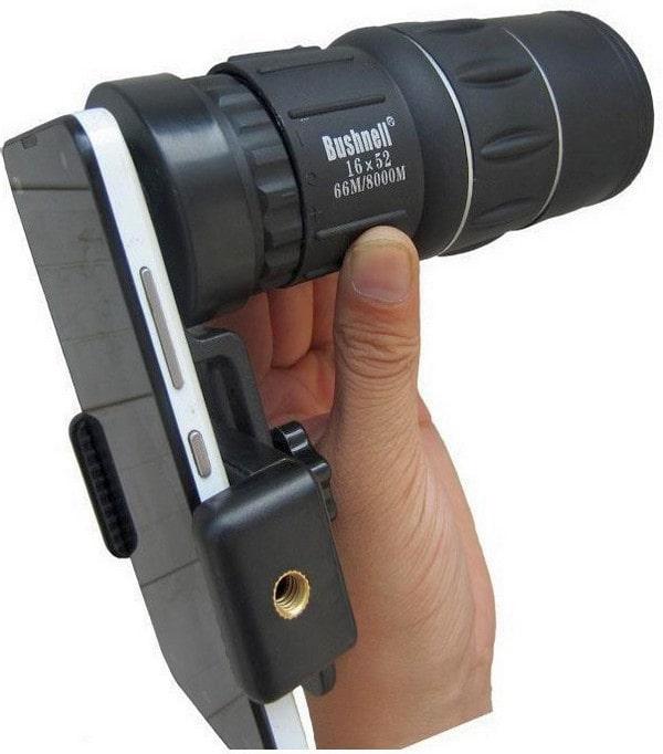 Монокуляр с адаптером для смартфона